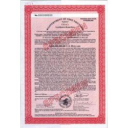 Viet-Nam. Government of Free VietNam Bonds