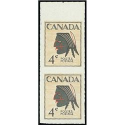 Canada. 4c Native Indian Multicolored Essay Pair