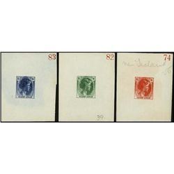 England.  3 Diff Bradbury Wilkinson Sample Stamps