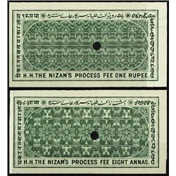 India. Hyerabad, 1902 Revenue Process Fee Plate P