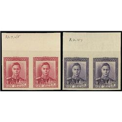 New Zealand. 1938-47 KG VI Plate Proofs in Iss. C