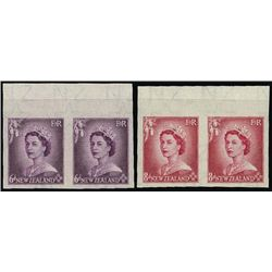 New Zealand. 1953-58 QE II Imperf Plate Proofs.