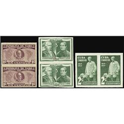 Cuba. 1937-45 Trial Color & Essay Stamp Assort.
