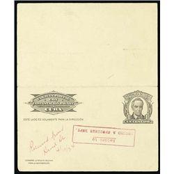 1934 Rep. Cuba Tarjeta Postal Card & Stamp Spec.