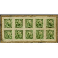 El Salvador. 1894 Liberty Iss. Compound Prf Sheet