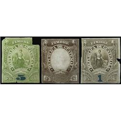 Guatemala. 1889-1890 Revenue Timbre Proofs.