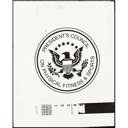 U.S.  Sports Stamp Models For Presidential Seal.