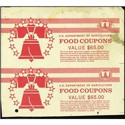 U.S. Dep. of Agric Food Coupons Cover Spec. #3.