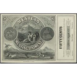 U.S. Mexican Mustang Liniment Label Proof.