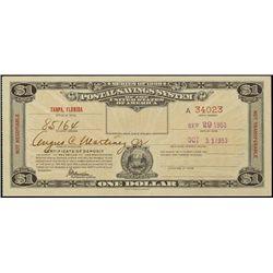 U.S. Postal Savings Certificate - Florida.