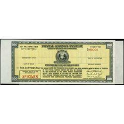 U.S. Postal Savings System Specimen.