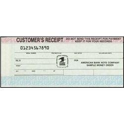 U.S.Post. Money Order Sample Spec. for ABNC.