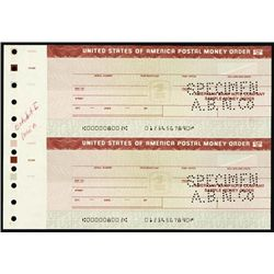 U.S.Post. Money Order Specimens and Proofs.