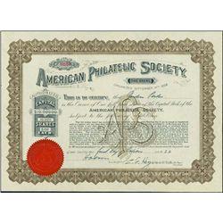 U.S. American Philatelic Society Stock Certificat