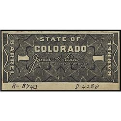 U.S. CO. State of CO Tax Paid Beer Stamp Proofs.