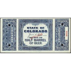CO. State of CO, Tax Paid on Half Barrel's of Bee