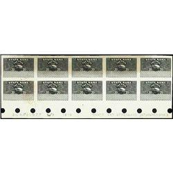 U.S. Experimental Cigarette Tax Stamp