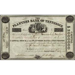 Tennessee. The Planters Bank of Tennessee.