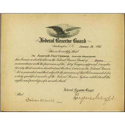 Wash., D.C. Federal Res. Board Stock Holder Cert