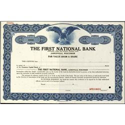WI.  Wisconsin First National Bank Stock Assort..