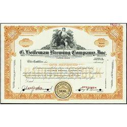 WI. Pennsylvania. Brewery Stock Certificate Assor
