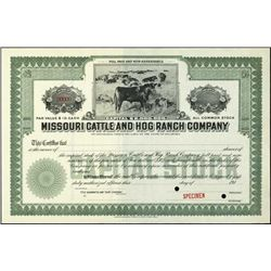 Missouri. Illinois. Hog and Cattle Ranch Stocks.