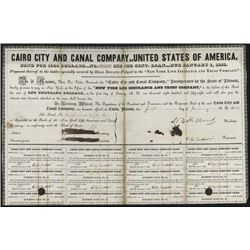 Cairo City and Canal Co.Founder, Cairo, IL 1837.