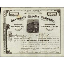 Iowa. Davenport Gazette Company.