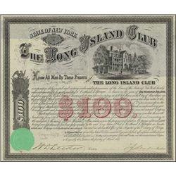 NY. Long Island Club Bond Signed by C.A. Sprague