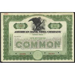 U.S. American Bank Note Co. Stock Assortment.