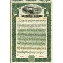 Alabama. Alabama Great Southern Railroad Company.
