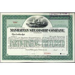 New York. Manhattan Steamship Company.