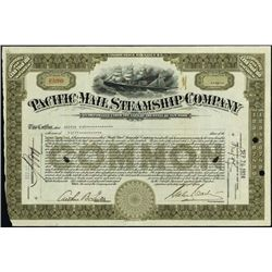 New York. Pacific Mail Steamship Company.
