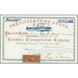 Washington Territory. Columbia Transportation Co.