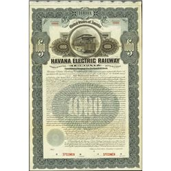 Cuba. Havana Electric Railway Co.Stock & Bond Cer