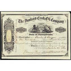 Pennsylvania. The Dunkard Creek Oil Co.