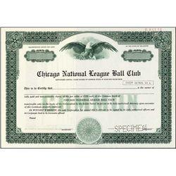 IL. Chicago Nat.League Ball Club, Chicago Cubs.