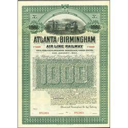 Georgia. AL.  Atlanta and Birmingham Air Line Rai