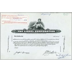 NY. Lionel Corporation Approval Proof Stock.