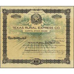 Texas. Texas Rural Express Co.