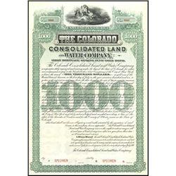 Colorado. Colorado Land and Water Co. Bond Trio.