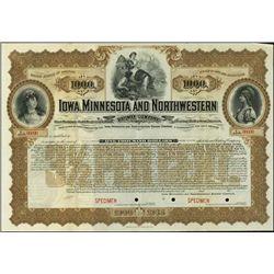 Iowa, Minnesota and Northwestern Railway Company.
