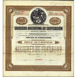 Argentina. Sociedad Argentina de Edificacion.
