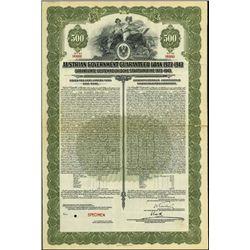 Austria. Austrian Gov. Guaranteed Loan 1923-43