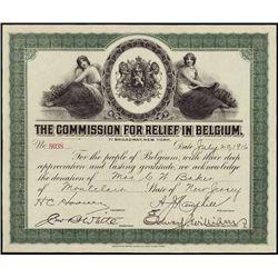 Belgium. The Commission for the Relief in Belgium