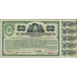 Belgium.  The Kingdom of Belgium $1000 Bond