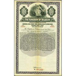 Belgium. The Kingdom of Belgium, Ext. Loan Gold B