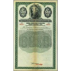 Belgium. Kingdom  Belgium Stabilisation Loan, 192