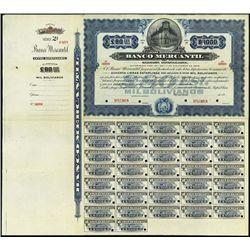 Bolivia. Banco Mercantil Bond Assortment.