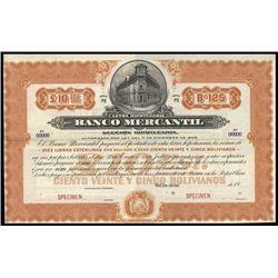 Bolivia. Banco Mercantil Bond